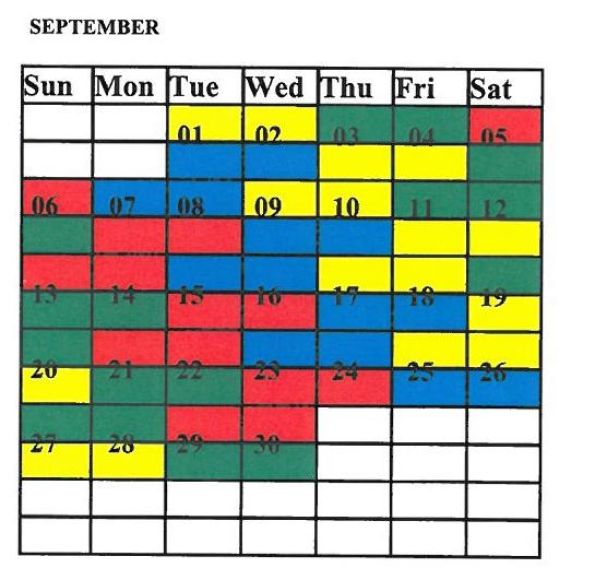 Uffw 2016 Shift Calendar | Calendar Template 2016