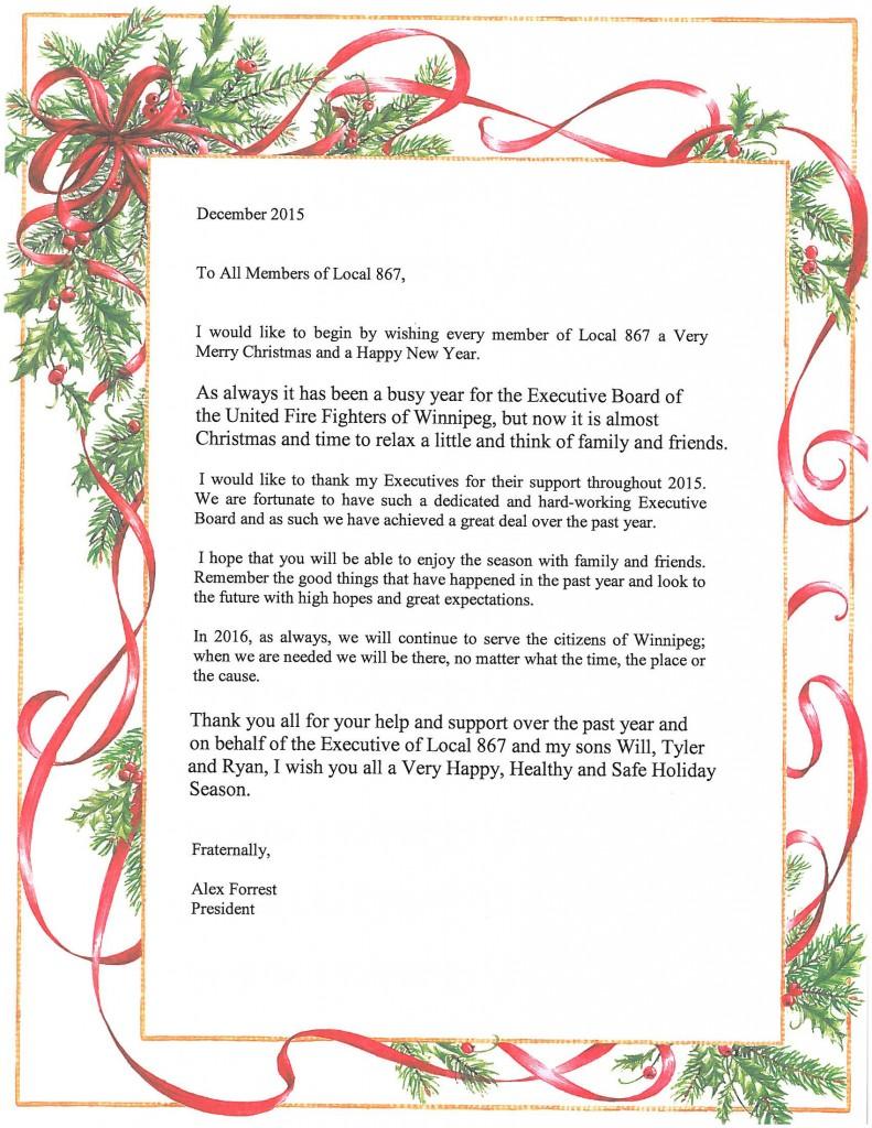 2015 Christmas Letter