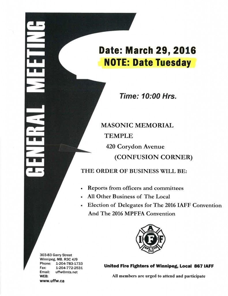 General Meeting 03-16