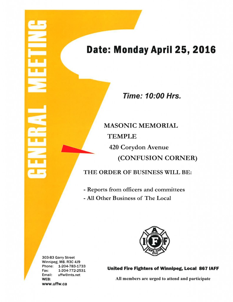 General Membership Meeting April 25-2016