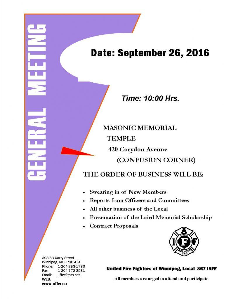 2016-09 - General Meeting Poster