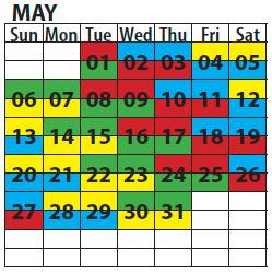 shift calendar 2018
